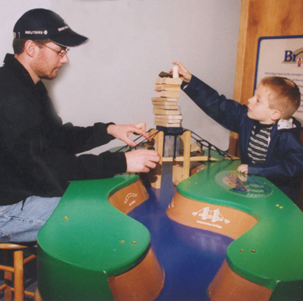 Children's Museum of La Crosse Mighty Mississippi & Bridges Exhibit